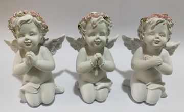 Cherub Set PINK Kneeling & Praying (Set of 3) 76611